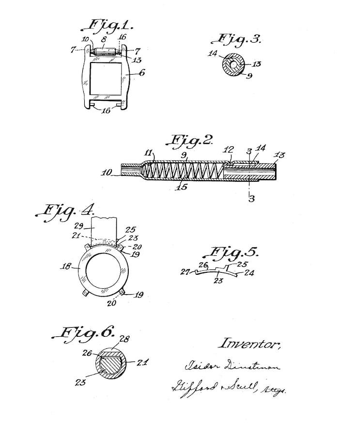 Isidor Dintsman Patent Spring Bar wristwatch