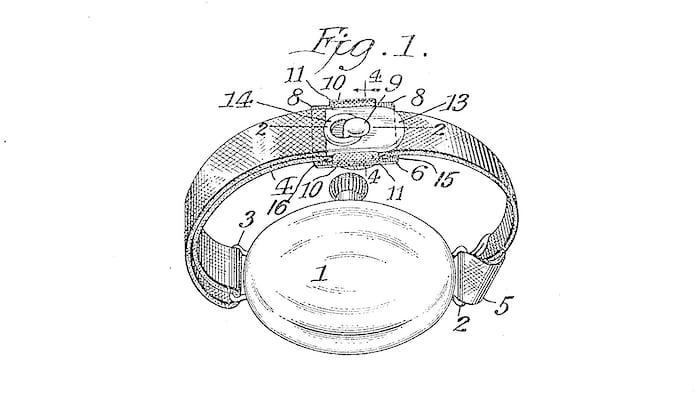 Victor Sence 1917 Patent Wrist Strap Attachment System