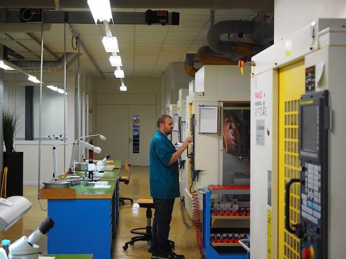 CNC machines at Vaucher