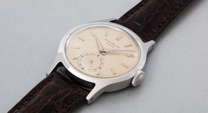 Lot 265 - PATEK PHILIPPE 565, Stainless steel, 1942