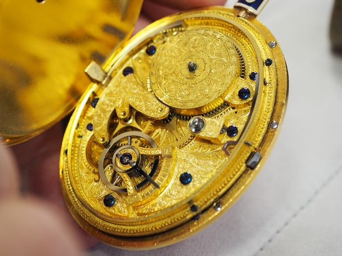 Movement of the original pantograph watch