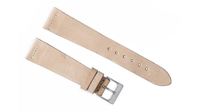 Natural Beige Calfskin Watch Strap