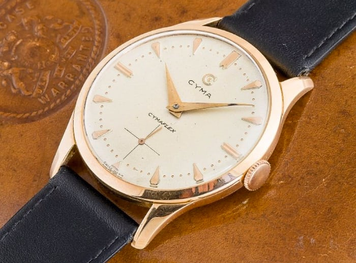 Cyma Cymaflex 38mm oversized Tavannes movement