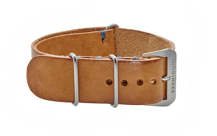 Beige Leather NATO watch strap