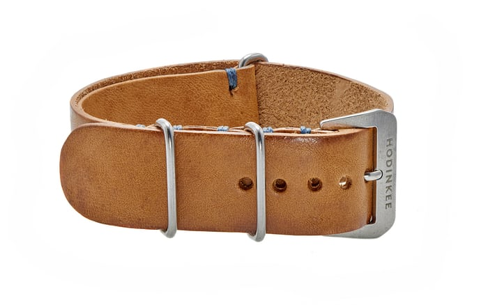 Beige Leather NATO watch strap