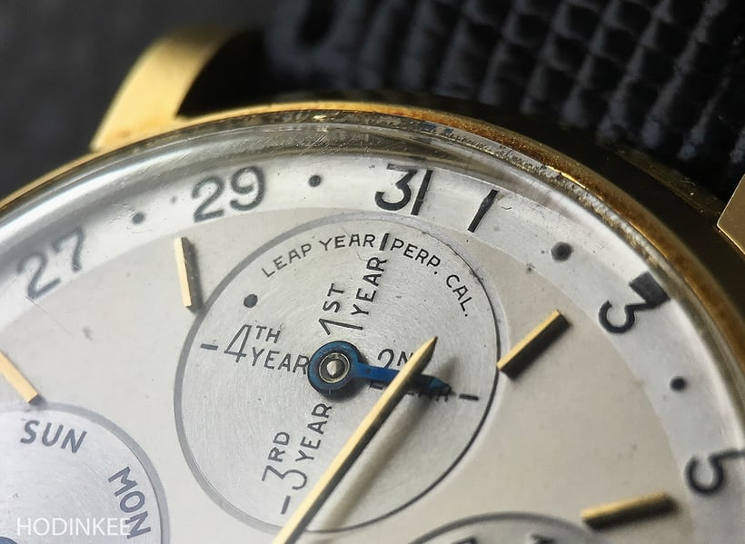 First wristwatch with leap year indicator