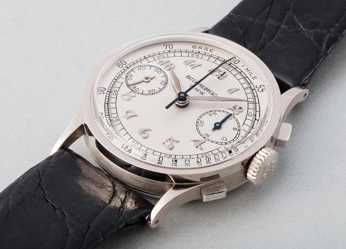 Lot 187 - PATEK PHILIPPE 533, 18k white gold, 1941/2006