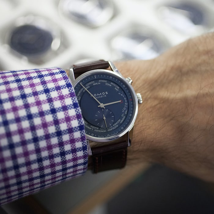 HODINKEE watch I wore most in 2015, NOMOS Weltzeit