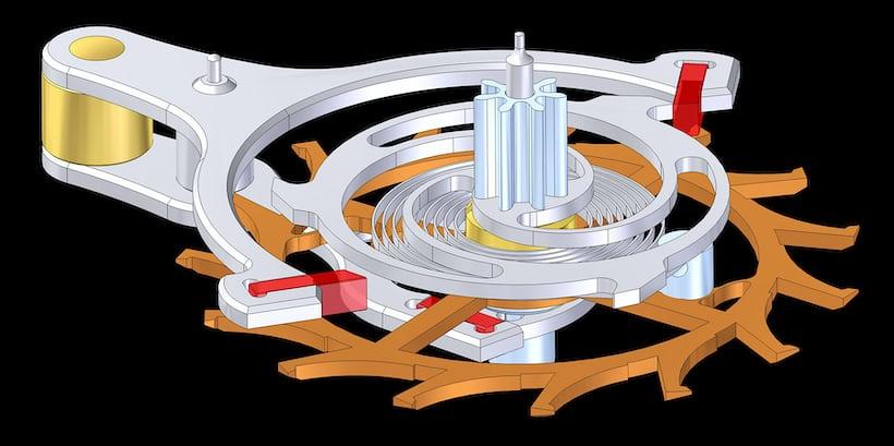 Constant force mechanism in the Lang & Heyne Markgraf Heinrich