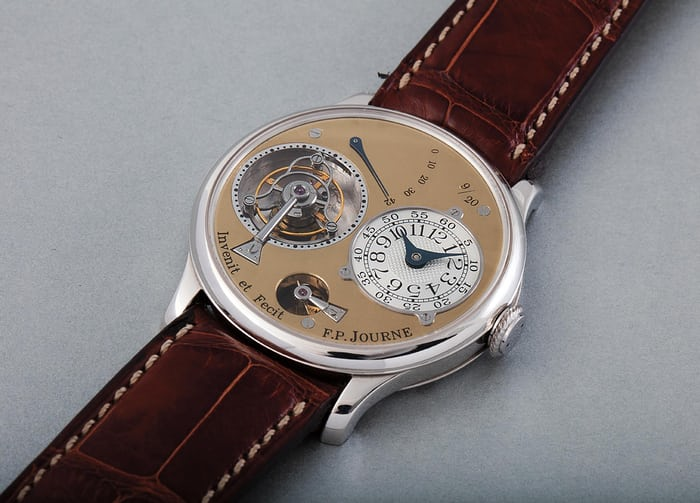 Lot 112 - F.P. JOURNE Tourbillon Souverain, Platinum, 1999