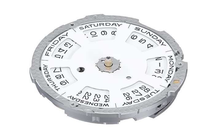 Day of the week and date wheel, Rolex caliber 3255