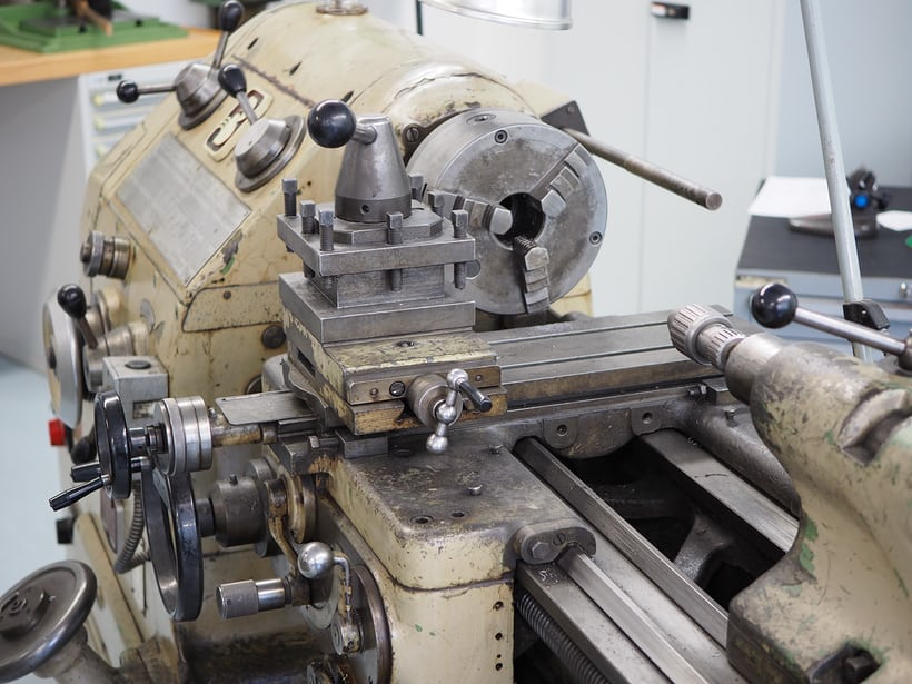 A very large lathe seen at the Glashütte Original manufacture