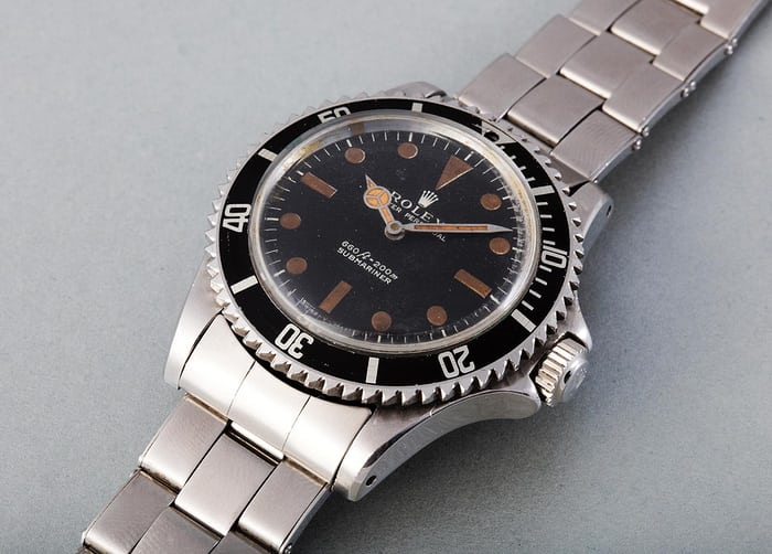 Lot 290 - ROLEX Submariner, 5513, Stainless steel, 1972