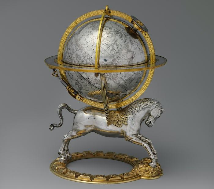 Celestial globe with clockwork, Gerhard Emmoser, 1579.