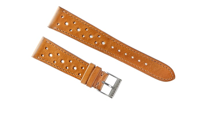 leather racing strap brown