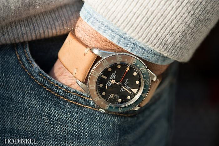 Beige Leather Watch Strap HODINKEE shop