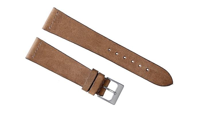 Dark Beige Calfskin Watch Strap