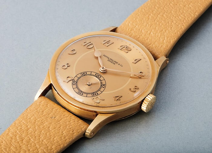Lot 252 - PATEK PHILIPPE 570, 18k yellow gold, 1941