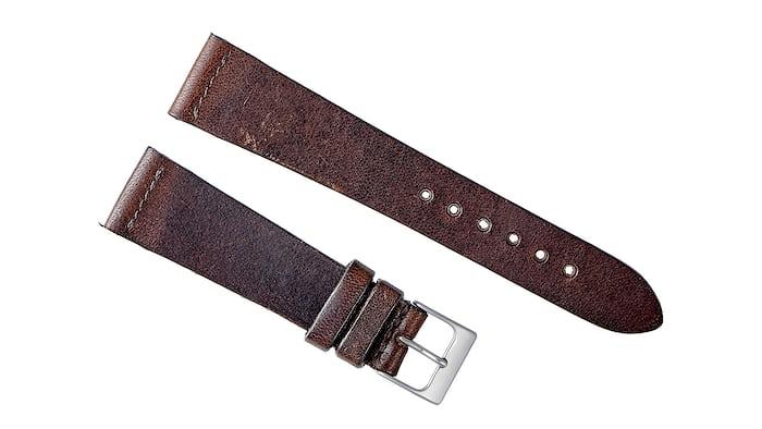Dark Brown Calfskin Watch Strap