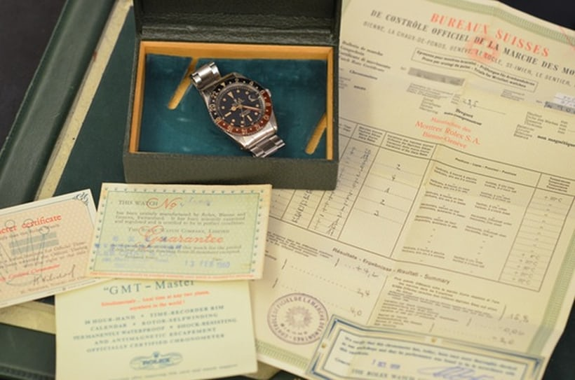 Vintage Rolex GMT Master 6542 Box and Papers