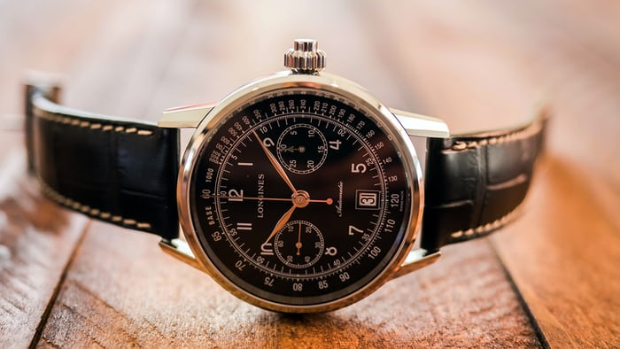 Longines single pusher chronograph heritage collection