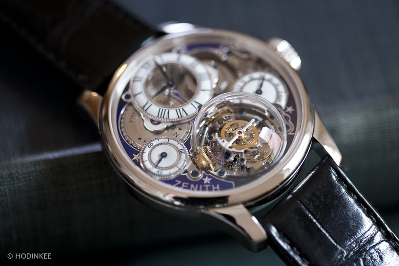 Zenith Academy Christophe Colomb Hurricane Georges Favret-Jacot in platinum
