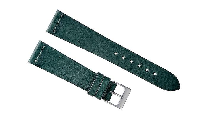 Hunter Green Calfskin Watch Strap
