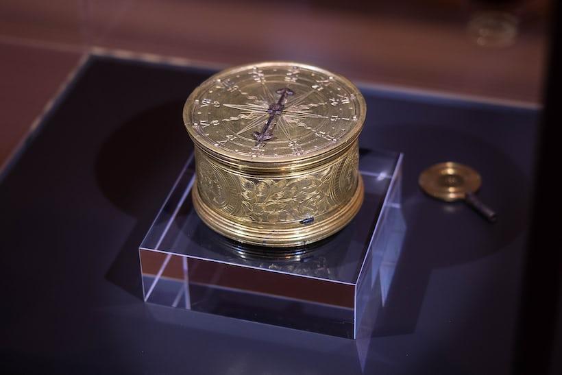 Early German Drum Table Clock Augsburg 1550