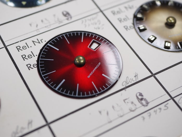 A vintage dial shows inspiration for the current collection