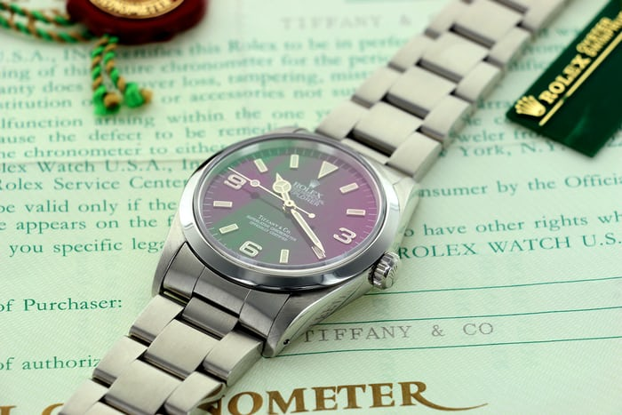Rolex Explorer 14270 Tiffany Papers