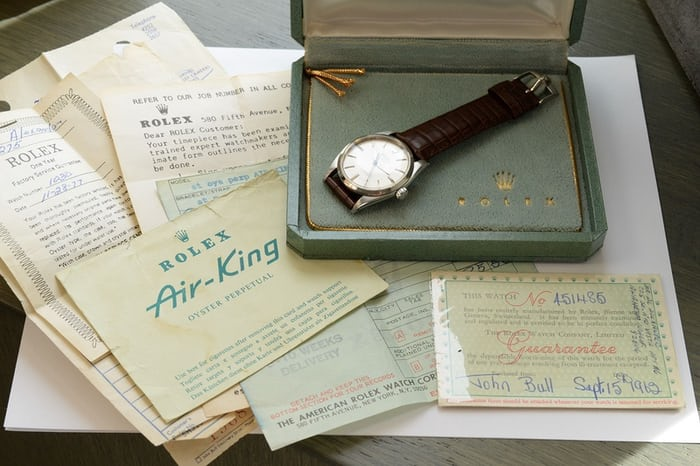 Rolex Air-King Reference 5504 Papers