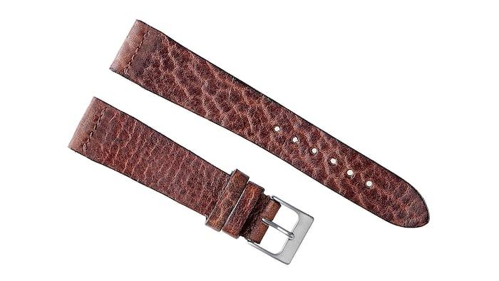 Burnt Brown Calfskin Watch Strap