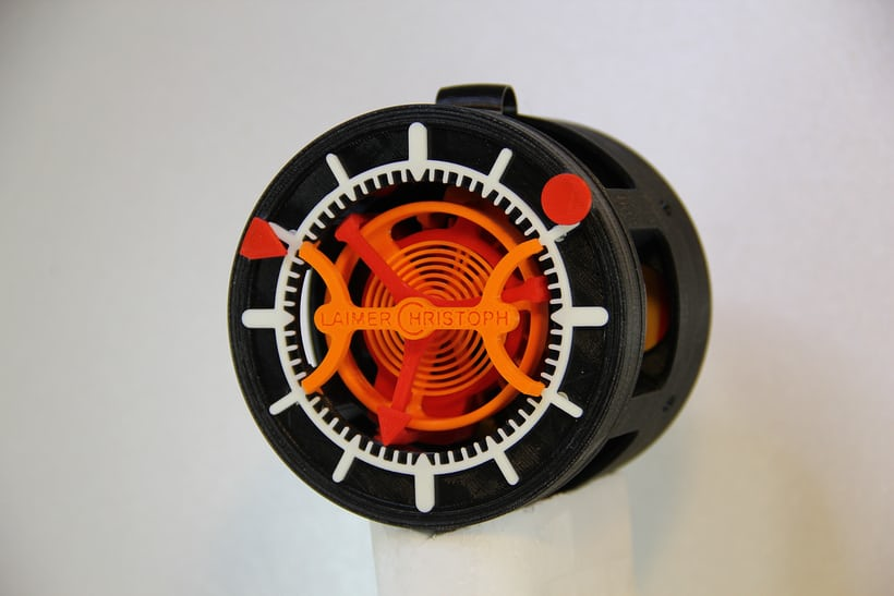 Christoph Laimer's 3D Printed Tourbillon Watch