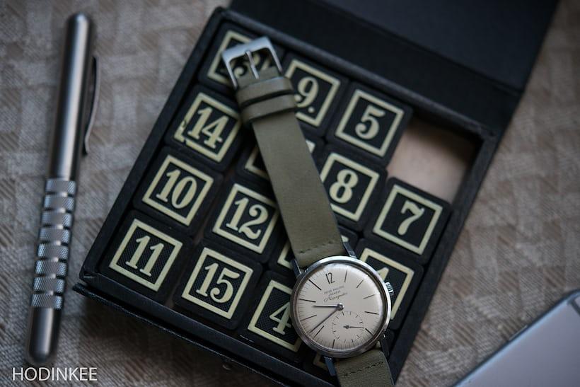 Moss Green Calfskin Watch Strap HODINKE Shop