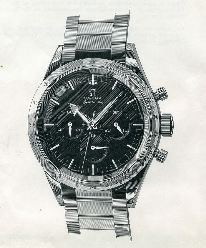 Omega Speedmaster Drawing Reference 2915