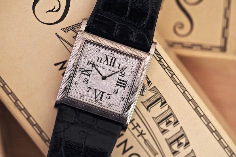 Ralph Lauren 867 Square Model, White Gold