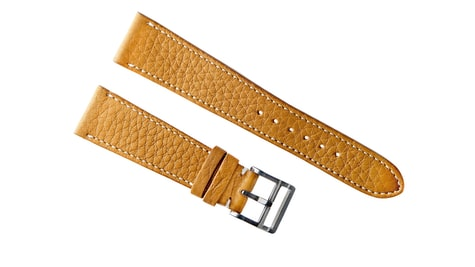 bac8bccb862 The all new Light Brown Calfskin Strap has a similar pebbled texture to our  customer-favorite Honey Brown Calfskin Strap
