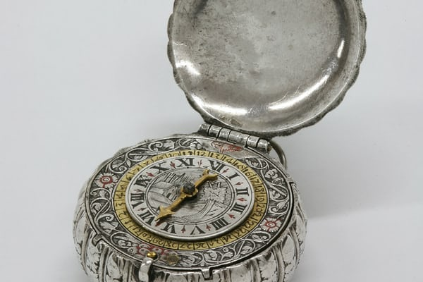 "An extremely small silver pocket watch by Edward East ( c. 1602 – 1696 ). He served as Master of the Clockmakers' Company in 1645 and again in 1653. In 1660 he was appointed ""Chief Clockmaker to the King"". He lived to be over ninety."
