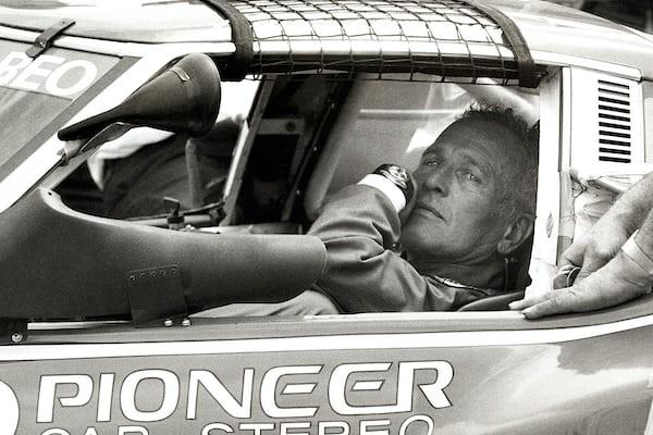 Paul Newman And Racer Sebastien Bourdais In 2004