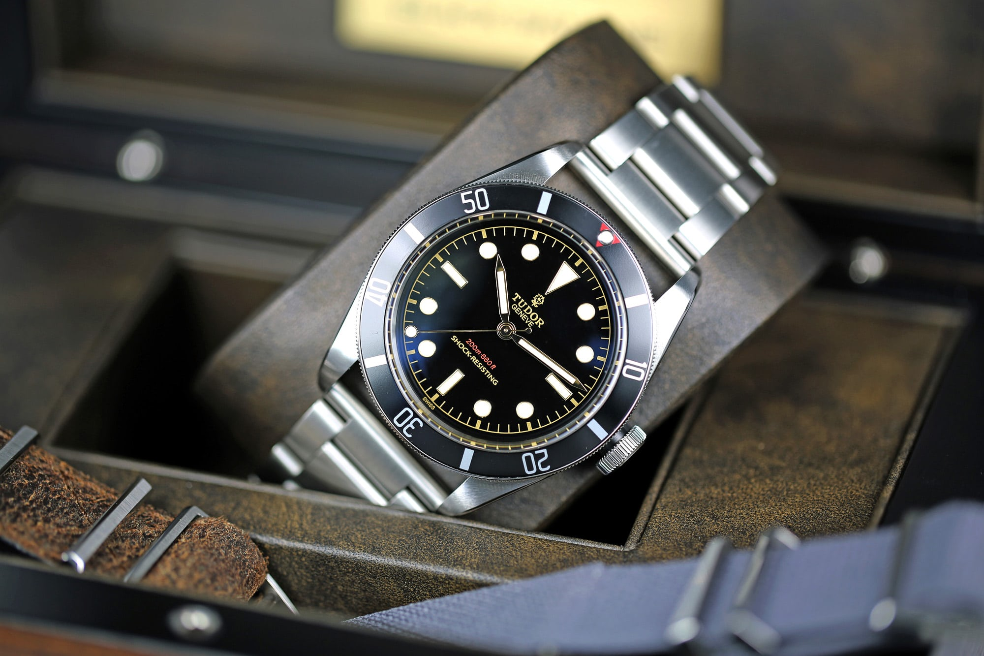 98f9a11c781 Breaking News  The Tudor Black Bay One At Only Watch 2015 Sells For Over  100 Times Retail Price - HODINKEE