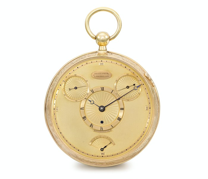 Breguet No. 1176, Garde-Temps Four Minute Tourbillon, 1809