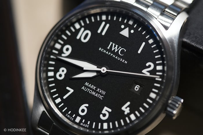 iwc mark xviii dial close up
