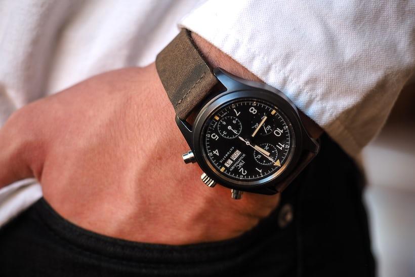 iwc ceramic 3705 fliegerchronograph wrist shot