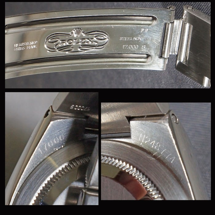 Rolex Oysterquartz Reference 17000 Case Back