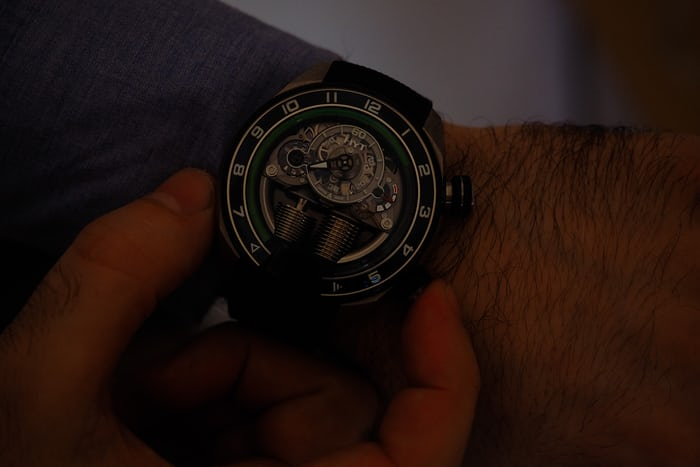 HYT H4 Metropolis 100 piece limited edition wrist shot