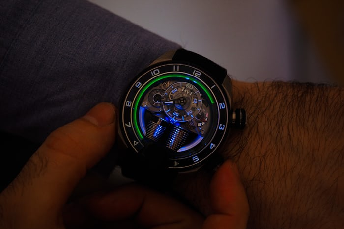 HYT H4 Wrist shot lit up