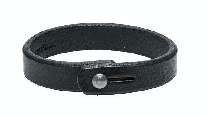Single Wrap Black Leather Wristband Tanner Goods