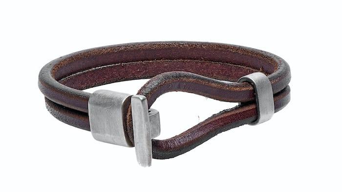 Premium Dark Brown Leather Wristband Tanner Goods