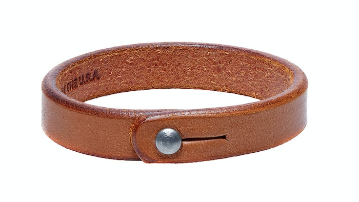 Single Wrap Tan Leather Wristband Tanner Goods