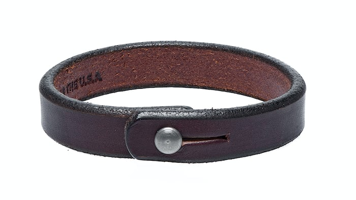 Single Wrap Dark Brown Leather Wristband Tanner Goods